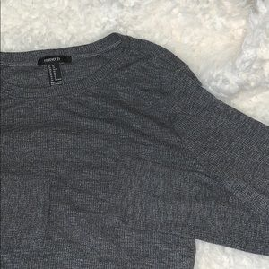 Gray cropped cozy long sleeve